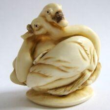 MPS Harmony Kingdom: QTs: Small Swans / Birds Figurine: Inspired by Netsuke: NIB