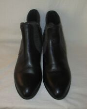 Ariat Black Leather and Gray Wool Side Zip up Ankle Boots Women's Size 10