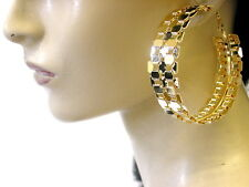 Large Trendy Gold Hoop Earing Beautiful Eye Catching Latest Lovely Fashionable