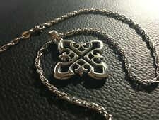 "Vintage James Avery Sterling Brittany Cross with 16"" Ja Chain"