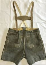 Real Leather German Bavarian Lederhosen Oktoberfest, Size 40 (RF855)