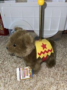 "Vintage Applause Stuffed Carousel Bear With Pole 12"" Plush"