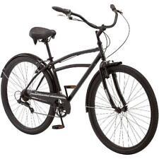 "Men's Midway Cruiser Bike Schwinn 29"" Black Bicycle Steel Frame 7 Speed Shimano"