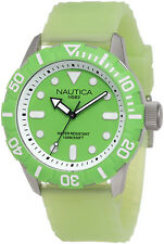 Nautica South Beach Green Dial Jelly Men's Watch Rubber Silicone Strap N09605G
