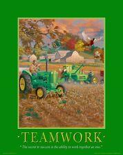 John Deere Tractor Motivational Poster Art Ertl Toys Sign Charles Freitag MVP20