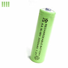 4 pcs AA 2A 3000mAh 1.2V Ni-MH rechargeable battery Solar Light MP3 Toy Green
