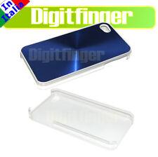 CRYSTAL CASE Lamina alluminio COVER BLU Custodia COMPATIBILE APPLE IPHONE 4 4S