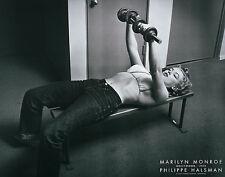 Marilyn Monroe with Weights Halsman Movie Star Film Sex Symbol Print Poster