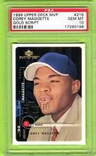 1999 UD MVP Corey Maggette GOLD SCRIPT RC #/100 PSA 10 Gem Mint