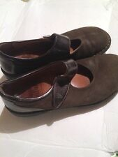 Finn Comfort Mary Jane Women's Size 38  Brown  Leather EUC Mules Comfort