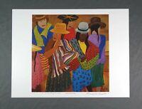Vintage Signed Print Puerto Rican Artist Frank Diaz Escalet 1992 Ayacucho Pero