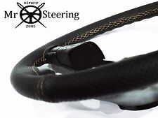 FOR PONTIAC TRANS AM 76+PERFORATED LEATHER STEERING WHEEL COVER CREAM DOUBLE STT
