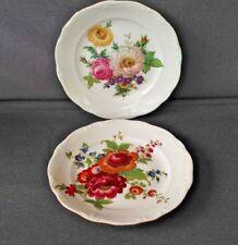 """Vintage Gloria Fine Porcelain Bayreuth West-Germany 10"""" Plates Set of  2 Floral"""