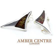 Modern German Baltic Amber Clip on Earrings 925 Silver Handmade  CL006 RRP£45!!!