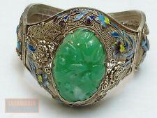 La Cina bracciale argento e-mail Vintage Chinese SILVER FILIGREE enamel bracelet GIADA