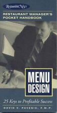 Menu Design: Restaurant Manager's Pocket Handbook Series