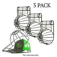 Ballcap Buddy Hat Washer Patented Original Ball Cap Cleaner Cage - 3 Pack BLACK
