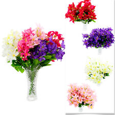 30 Head Artificial Silk Lilly Fake Flower Plant Bouquet Unique Lily Floral Decor