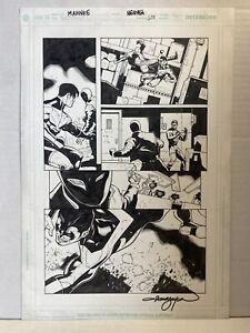 Batman 638 Nightwing & Red Hood ACTION PAGE Original Art MAHNKE and NGUYEN