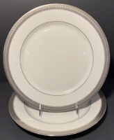 "Mikasa Fine China PALATIAL PLATINUM Dinner Plate(s) 10 3/4"" Set of 2 L3235 EUC"