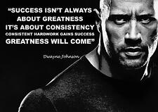 DWAYNE JOHNSON THE ROCK WRESTLING INSPIRATIONAL QUOTE POSTER PRINT PICTURE (3)