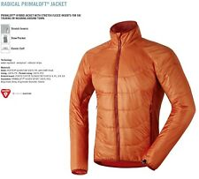 NEW Dynafit Radical Primaloft Mens Medium Orange Insulator Ski Jacket Ret$210