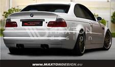BMW Serie 3 E46 98>07 Coupe Cabrio Paraurti Posteriore Tuning M3 look 4 scarichi