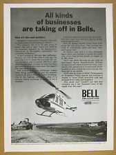 1971 Bell Jet Ranger Helicopter photo Illinois Road Construction Co Use print Ad