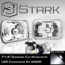 7x6 H6054 H6052 H6014 Glass Head Light Housing Diamond - Full LED Conversion Kit
