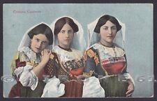 CALABRIA COSTUMI CALABRESI 06 COSTUME FOLKLORE Cartolina viaggiata 1923
