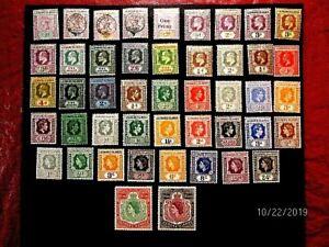Leeward I 1//147 mint collection, f-vf og h/NH, cat 550.+