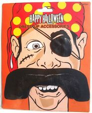 NEW MENS Halloween Dress Up Accessories Costume PIRATE MUSTACHE W/ Eye Patch