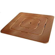 Pedana doccia quadrata per piatto in legno marino antiscivolo 50x50 cm