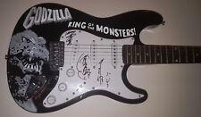 HARUO NAKAJIMA Kenpachiro Satsuma KITAGAWA Signed GODZILLA Custom Painted Guitar
