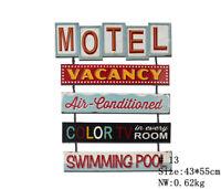 Motol Vintage Metal Hanging Signs Large Plaque Bar Pub Cafe Wall Decor Art