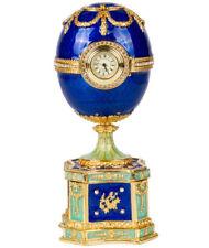 Kelch Chantecler Musical Faberge Egg Replica w/ Clock Jewelry Box Made in Russia
