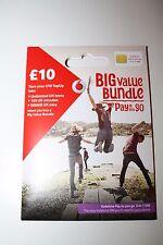 Vodafone Trio SIM Card (UK) (prepaid service while visiting)