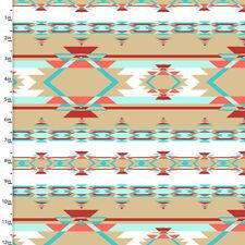 Fabric Aztec Tribal Desert Blanket on Cotton 1 Yard S