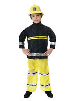 BOYS KIDS FIREMAN FIRE FIGHTER  FANCY DRESS OUTFIT COSTUME 2 - 12 YEARS TODDLER