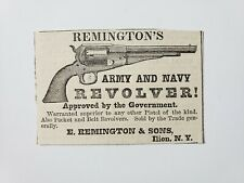 Remington's Army and Navy Revolver 1864 Civil War Advertisement Ad B