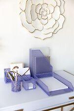 Blu Monaco Purple 5 Piece Cute Desk Organizer Set - Cute Office Desk Accessories