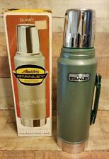 Vintage Alladin Stanley Thermos New In Box 1 Quart Unbreakable Steel Green