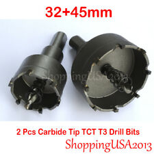 32+45mm Carbide Tip TCT Alloy Drill Bit Hole Saw Cutter Tool Stainless Steel T3