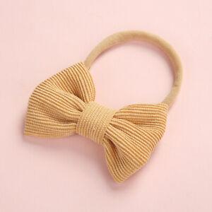Baby Girl Toddler Kids Hair Bow Hair Band Hair band Headband  Bowtie Velvet Wear