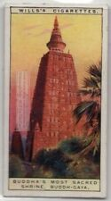 Bodh Gaya Mahabodhi Temple Gautama Buddha 90+  Y/O Ad Trade Card