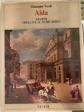 Giuseppe Verdi Aida Opera Italian English Vocal Score Piano Sheet Music Book