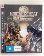 Mortal Kombat Vs DC Universe PS3 Inc Booklet Very Good Condition Playstation 3