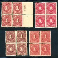 EFO J61 ALL FOUR LISTED COLOR VARIETIES IN BLOCKS OF FOUR CATALOG $94.00