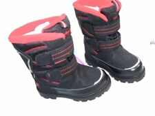 NEW Toddler Girls 8.5 Pediped Snow Winter Boots Leather and Canvas Uppers