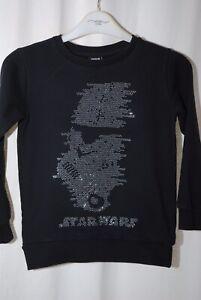 River Island Girls Black Bead Detail Star Wars Sweatshirt Age 7–8 Years